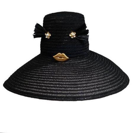 Yestadt Millinery Yestadt Cheeky Hat - BLACK/GOLD