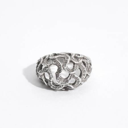 Saint Claude Trompa del Elefante Ring - Sterling Silver