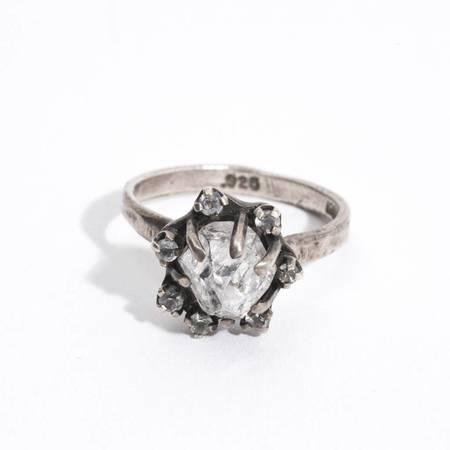 Unearthen Jewelry Naturale Ring - quartz/white sapphire/sterling silver
