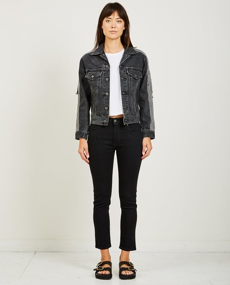 Levi's Made & Crafted BOYFRIEND TRUCKER JACKET - THRASH BLACK