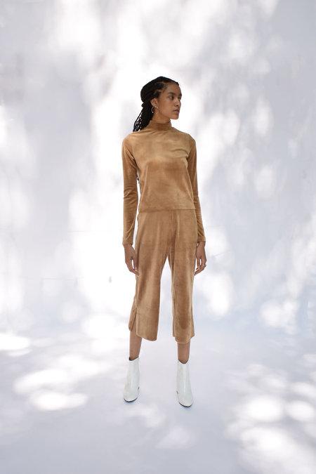 Donna Zhong Velvet Top - Camel
