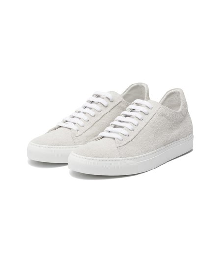 Wings + Horns Hairy Suede Court Low - White