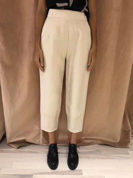 EVE GRAVEL FORGOTTEN ROOM PANT - SALT