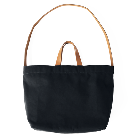 MAKR Sling Tote - Black Canvas/Tan Leather