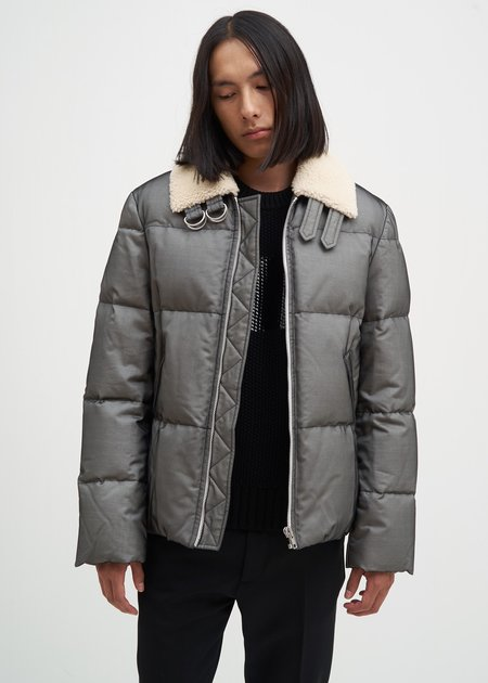 Helmut Lang Band Zip Silk Puffer jacket - Black
