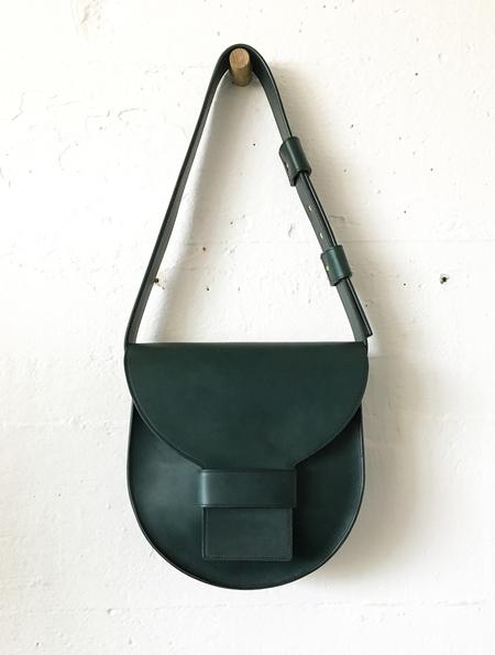 Sara Barner Large Italian Veg Tan Saddle Bag
