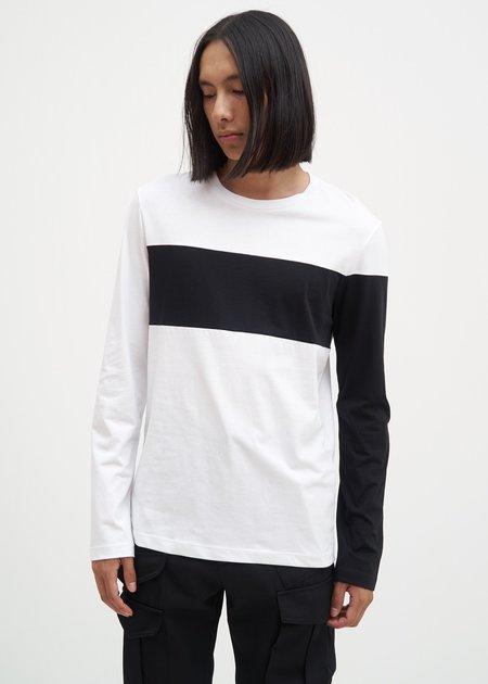 Helmut Lang Band Logo Long Sleeve T-Shirt - White/Black