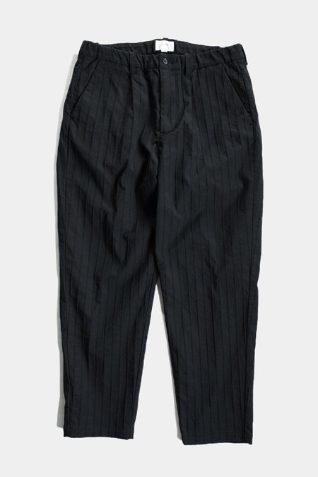 Still By Hand Ny Stripe Pant - Black