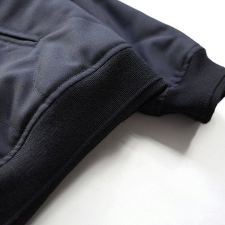 Still By Hand Quilting Wool Blouson - Navy