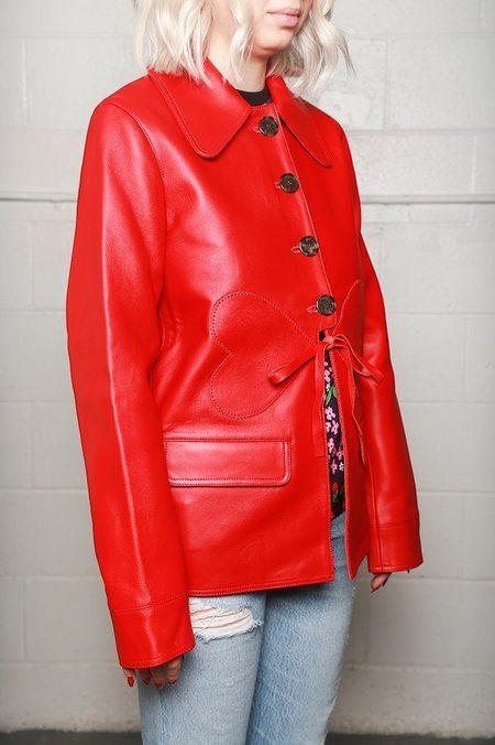 Alexa Chung Heart Detail Jacket - Red