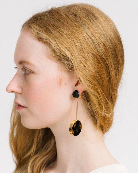 Rachel Comey Lhasa earrings - Black/Tortoise