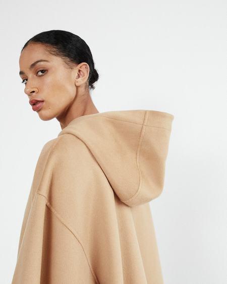 Nanushka Luz Oversized Hooded Jacket - Camel