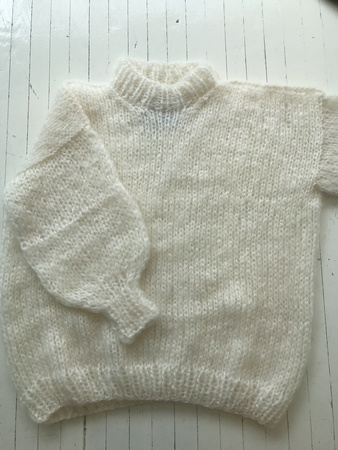 THE KNITTER Mohair and Wool Sweater - Off White