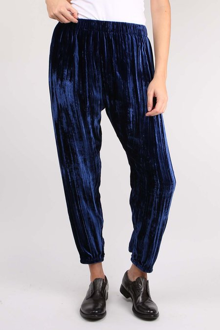 Forte Forte Pleated Velvet Pants - Bluette