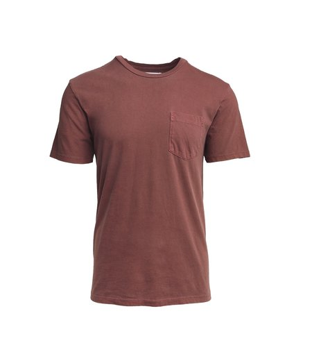 Freemans Sporting Club Pocket T-Shirt - Burgundy