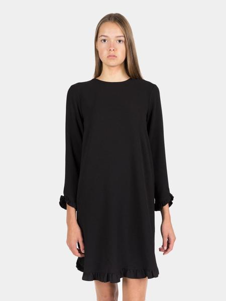 Ganni Clark Mini Dress - Black