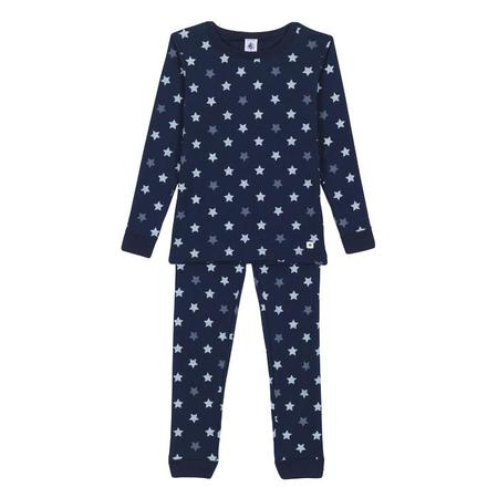 KIDS Petit Bateau Child Pyjamas - Navy With Stars