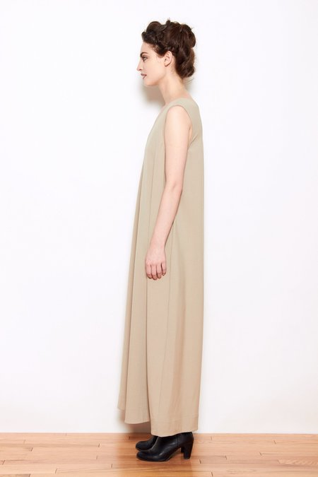 Grei V-Neck Wide Leg Jumpsuit - Khaki