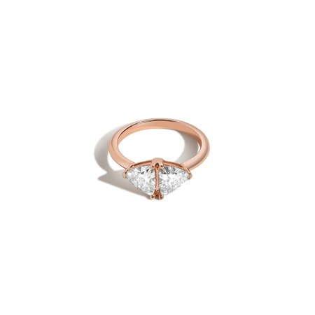 Shahla Karimi Double Triangle Ring