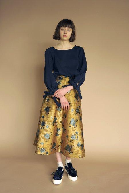 Eliza Faulkner Pia Skirt - Gold Floral Jacquard