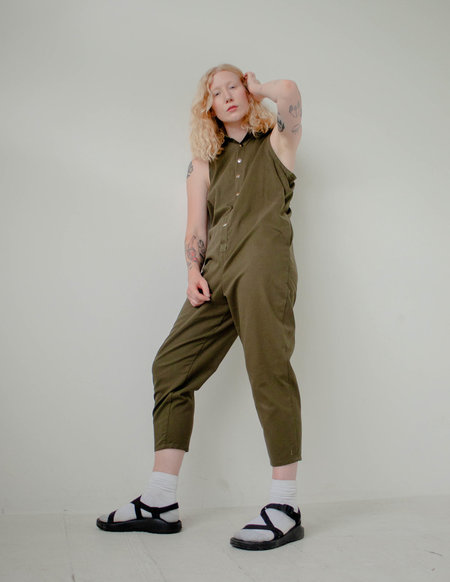 The General Public Oh Snap! Jumpsuit - Olive