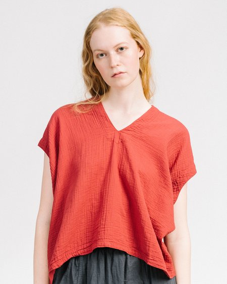 Atelier Delphine Celeste Top - Mahogany Red