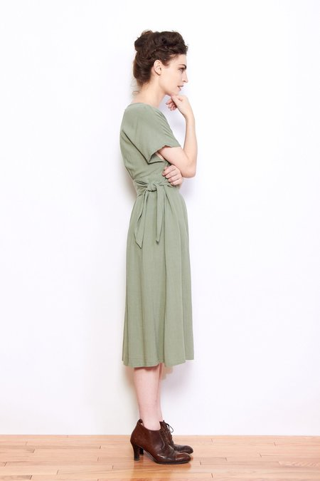 Persons Vickie Knot Dress - Sage