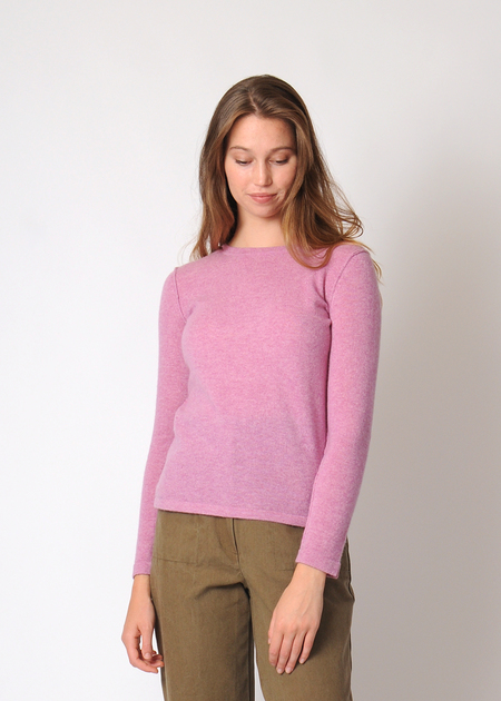Christina Lehr Cashmere Crew SWEATER - Berry