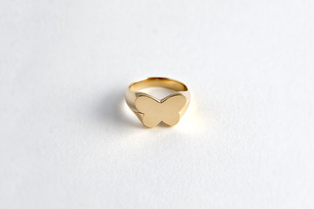 Muraco Wolfe Butterfly Signet Ring - Gold