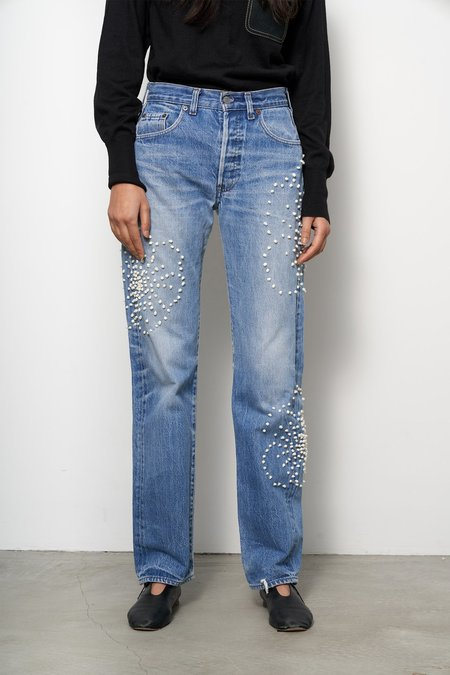 B Sides French Knot Floral Board Jean