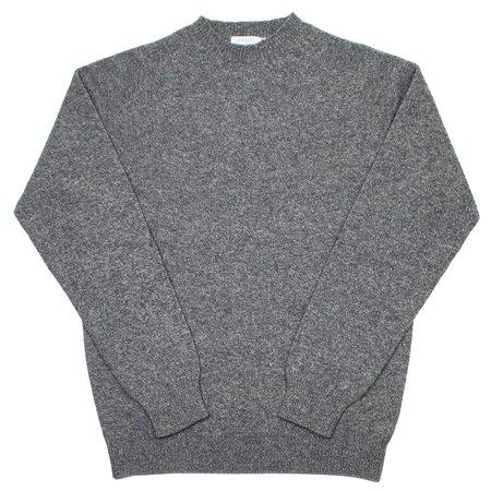Sunspel Lambswool Crewn Neck Sweater - Mid Grey