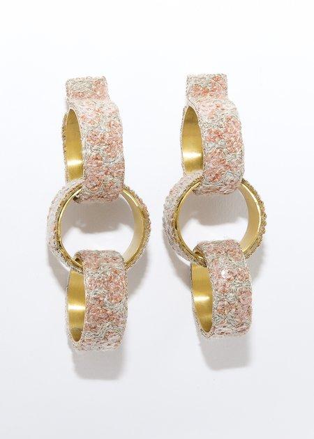 Nani Haveli Large Embroidery Earring - 4