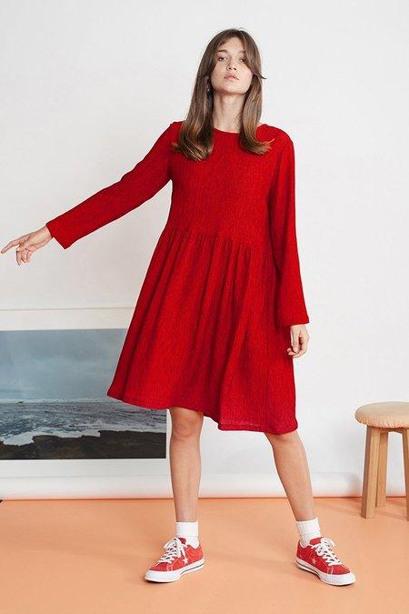 Twenty-Seven Names The Susie Dress - Red Crinkle