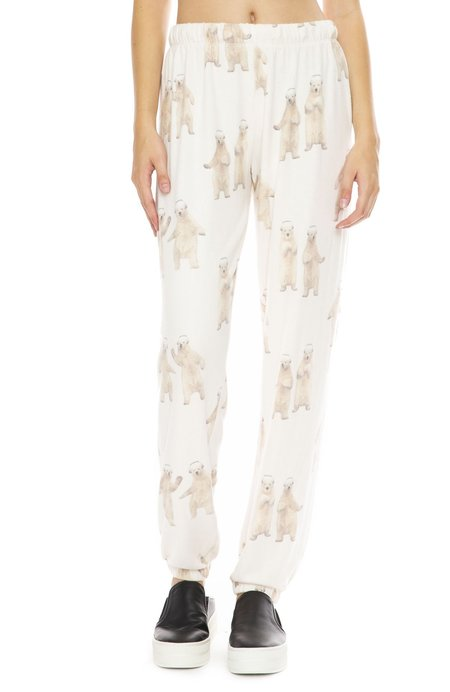 All Things Fabulous Boogie Bear Cozy Sweatpants - Natural
