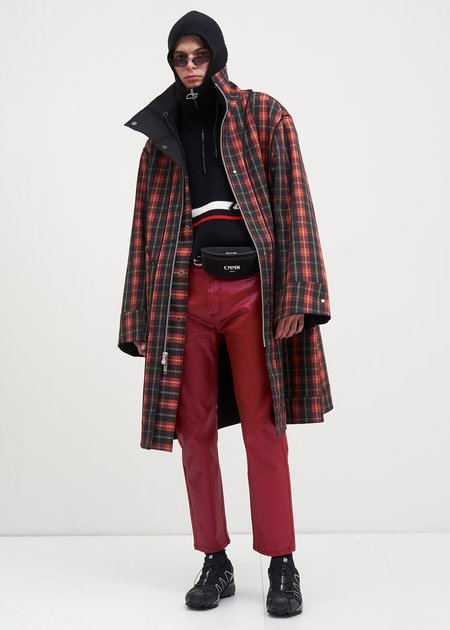 CMMN SWDN Waxed Jaxon Jeans - Red