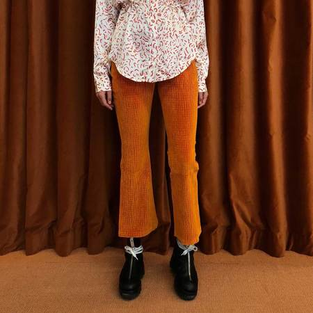 Aalto Cropped Stretchy Flared Trouser
