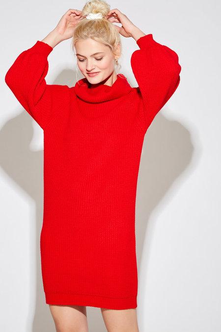 Callahan Fall Alma Mock Dress - Spicy Red