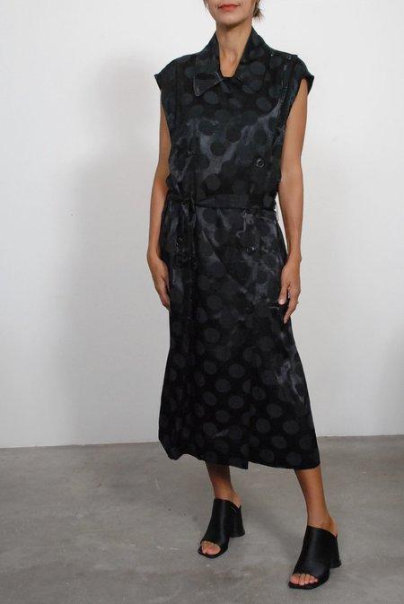 Creatures of Comfort Graham Dress - Polka Dot Jacquard Black