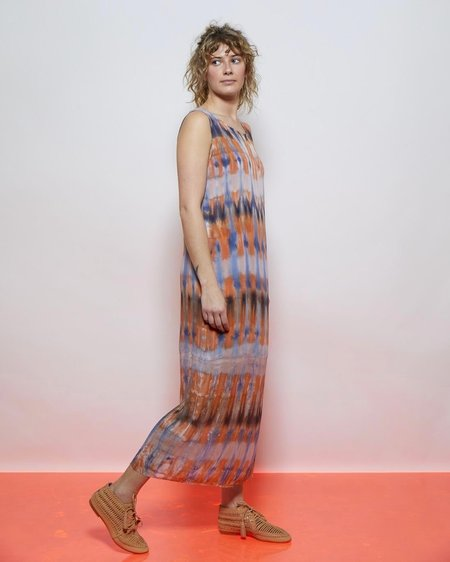 Raquel Allegra Combo Muscle Tee Dress - Blue Tigers Eye