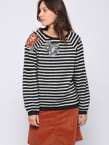 Leon & Harper Shoupettou Flower Sweatshirt - Stripe