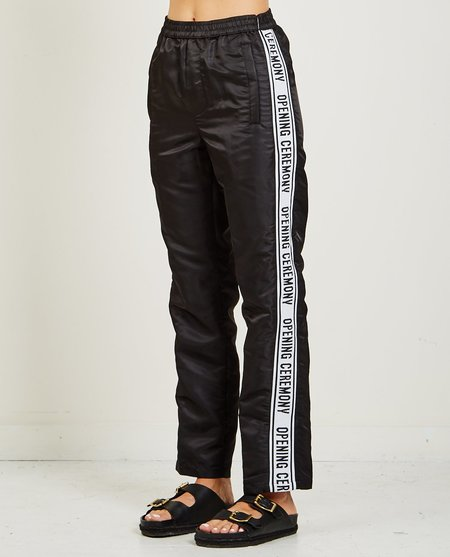 Opening Ceremony NYLON WARM UP PANT - BLACK
