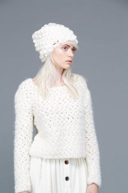 Stella Pardo Hubert Knit Hat - Ecru