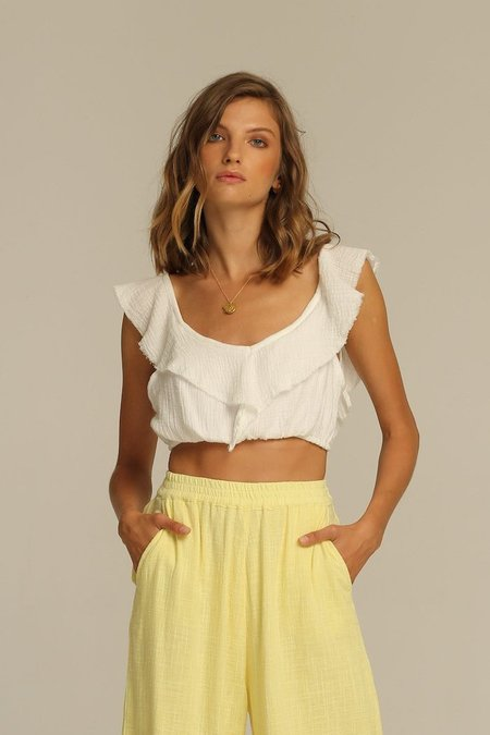 Rue Stiic Anza Linen Top - Honey