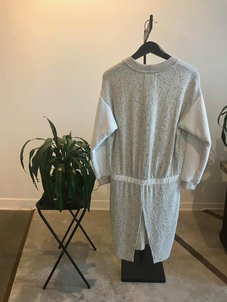 Nanushka Nalani Tweed Dress - Cream Melange