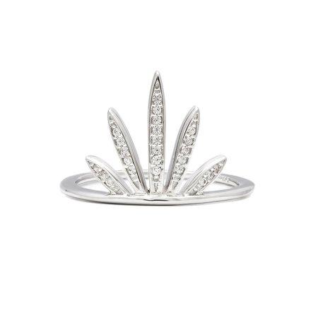 Melanie Auld Fan Ring - Rhodium