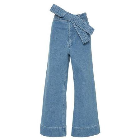 Apiece Apart Merida Denim Pants with Tie Belt - Light Wash