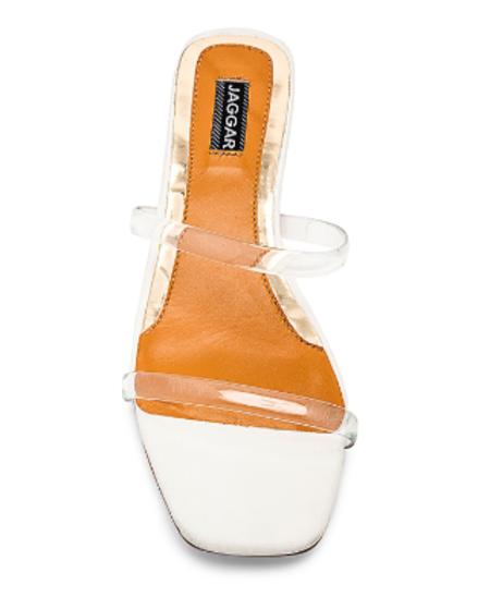 Jaggar Perspex Sandal - CLEAR