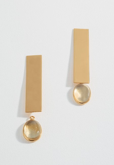 Zoja Daria Earrings - Citrine Stone