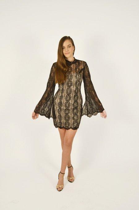 Keepsake Uptown Lace Mini Dress - Black
