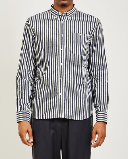 A Kind of Guise NARAYAN SHIRT - VELVET STRIPES